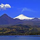 Lake and Volcano Villarrica II by Daidalos