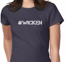 #WICKEN (White Text) Womens Fitted T-Shirt