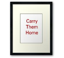 Carry them home - england rugby union Framed Print