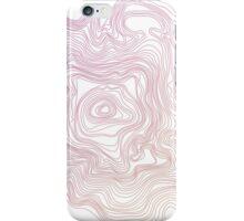 Gradient Topography Contour Art iPhone Case/Skin