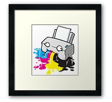Puker Printer Framed Print