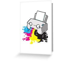 Puker Printer Greeting Card