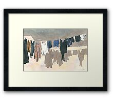 Watercolour Wash Framed Print