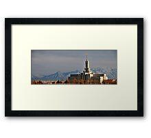 Mount Timpanogos LDS Temple - Panorama Framed Print