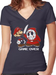 Mario the 13th Women's Fitted V-Neck T-Shirt
