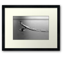 Water Touch Framed Print