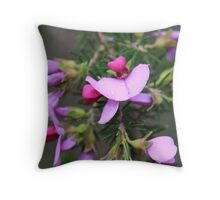 pink and purple pea flowers  Throw Pillow