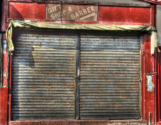 Closed Gift & Barber Shop - From Dale Street, Blackpool