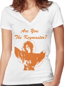 Are You The Keymaster?? Women's Fitted V-Neck T-Shirt