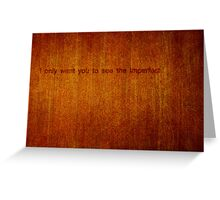 A Protective Obstruction Greeting Card