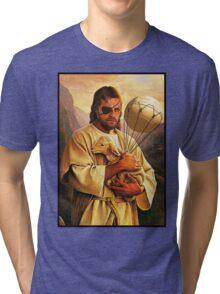 Venom Jesus Snake - parody Tri-blend T-Shirt