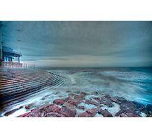 HDR Sea Defences Photographic Print