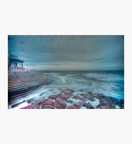 HDR Sea Defences Photographic Print