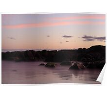 Colourful Sunset - Chain of Lagoons Poster