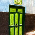 The Green Door - Nubian Village by Marilyn Harris