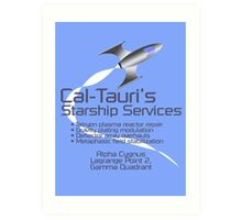 Cal-Tauri's Starship Services Art Print