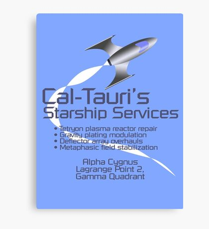 Cal-Tauri's Starship Services Canvas Print