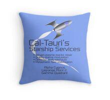Cal-Tauri's Starship Services Throw Pillow