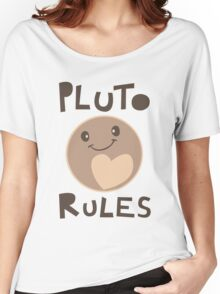 Excuse Me While I Science - Pluto Rules! Women's Relaxed Fit T-Shirt