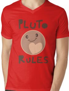 Excuse Me While I Science - Pluto Rules! Mens V-Neck T-Shirt