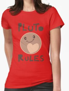 Excuse Me While I Science - Pluto Rules! Womens Fitted T-Shirt