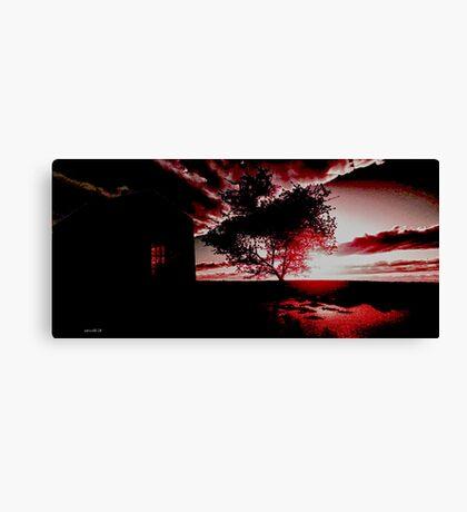 Boxbergheide Sunset 1954. Canvas Print