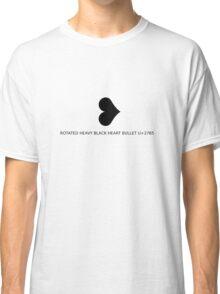 ❥ ROTATED HEAVY BLACK HEART BULLET Classic T-Shirt