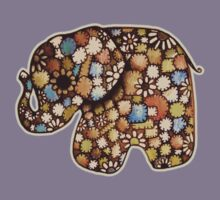 Patchwork Elephant Kids Tee
