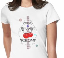 Cherry Bob Omb Transparent Version Womens Fitted T-Shirt