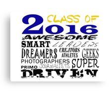 Class of 2016 Traits - Blue/Gold Canvas Print
