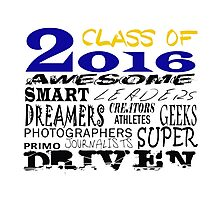 Class of 2016 Traits - Blue/Gold Photographic Print