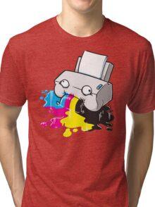 Puker Printer Tri-blend T-Shirt