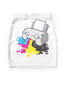 Puker Printer Mini Skirt