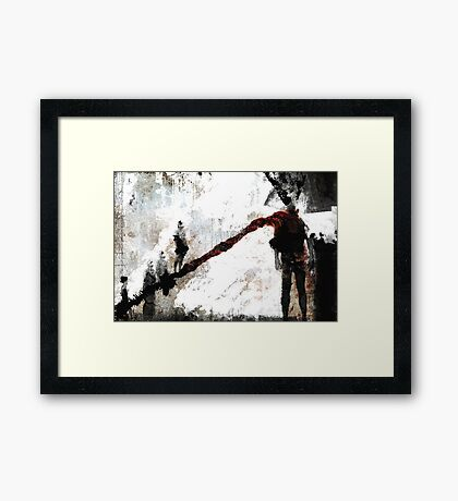 THE MARCH Framed Print