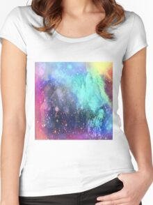 Evening in the mountains Women's Fitted Scoop T-Shirt