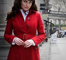 Red shopping in london by Robert Ellis