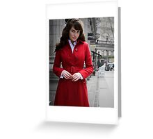 Red shopping in london Greeting Card