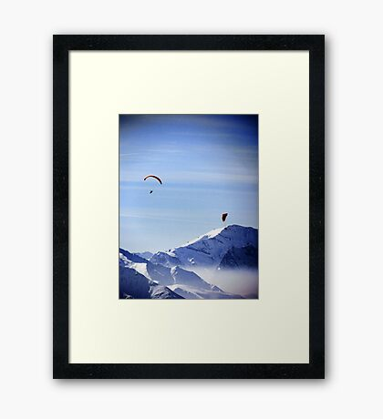 Lost in the Joy of the Mountains Framed Print