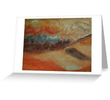 Abstract of sand and clouds in orange, watercolor Greeting Card