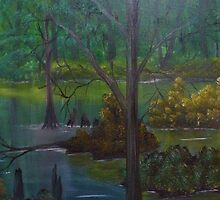 Naked Cypress Deep In The Swamp by towncrier