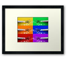 Rainbow Brushes Framed Print