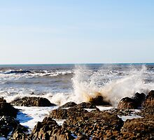 Westward Ho! - Crashing waves by Toby Wilson