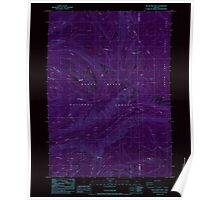 USGS Topo Map Oregon Red Blanket Mountain 281236 1985 24000 Inverted Poster