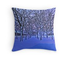 Wintry Avenue Throw Pillow