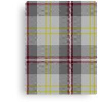00748 Banff White Tartan Canvas Print