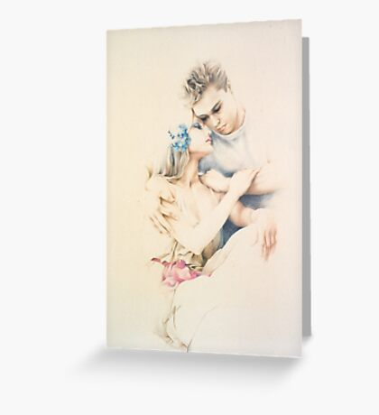 """""""Tender Moments"""" Colour Pencil Art Greeting Card"""