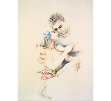 """Tender Moments"" Colour Pencil Art Photographic Print"