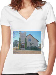 Holy Trinity Lutheran Church, Nobby, Qld, Australia Women's Fitted V-Neck T-Shirt