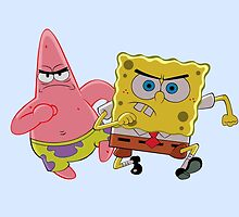 Spongebob and Patrick by bebe-gun