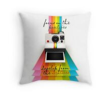 Focus on the positives, develop from the negatives Throw Pillow